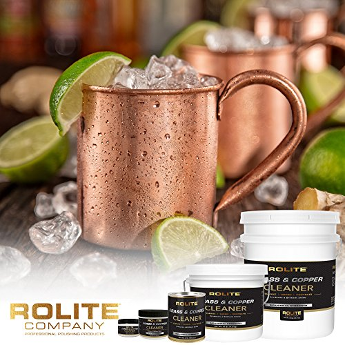 Rolite Brass & Copper Cleaner (4.5oz) Instant Cleaning & Tarnish Removal on Railings, Elevators, Fixtures, Hotels, Cruise Ships, Office Buildings by Rolite (Image #2)