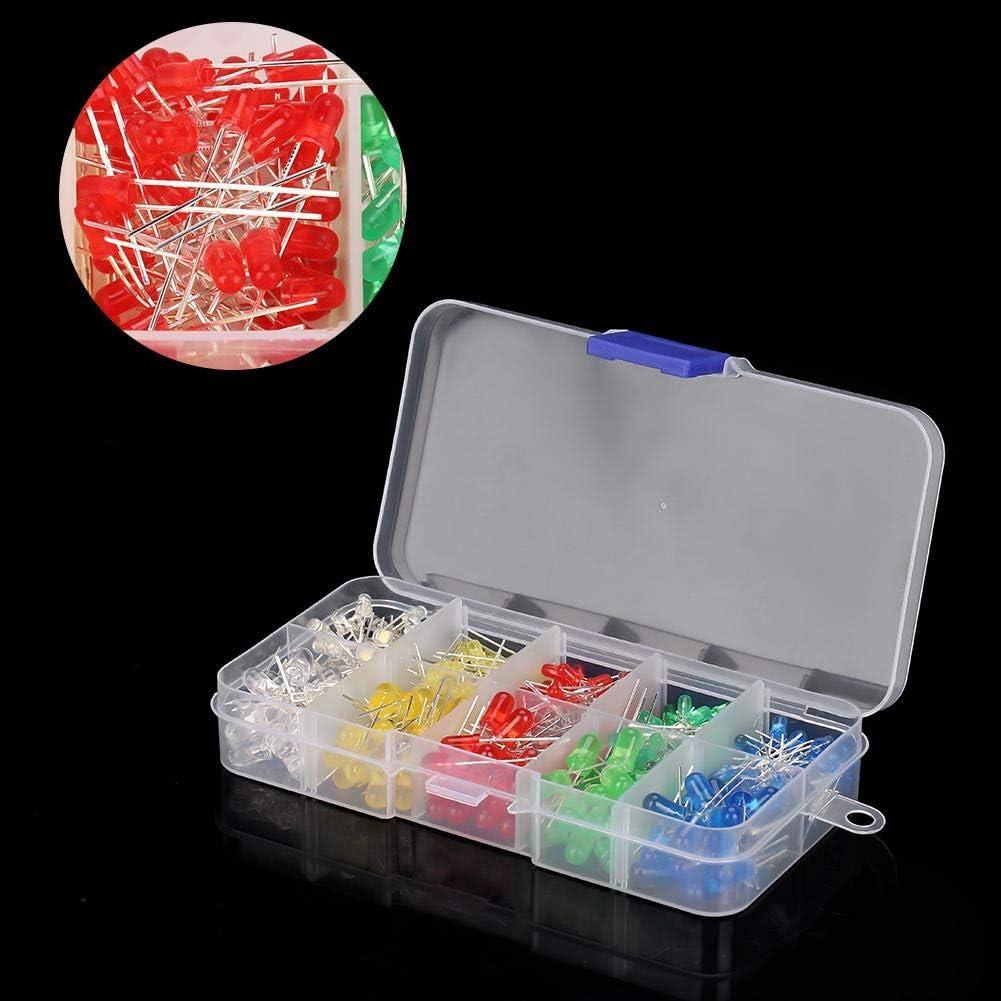 350 ST/ÜCKE 3mm /& 5mm Sortierte LED Leuchtdiode Widerstand Sortiment Kit Multi Farbe mit Aufbewahrungsbox