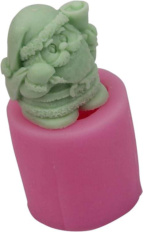 Seifen - Rundes Silikon Kerzen-Gie/ßform F/ür Kuchen DIY Aromatherapie Kerzenform F/ür Heimwerker Kerzen Bastelzubeh/ör Dequate DIY Kerzenform Pralinen 3D Weihnachtsmann Pudding