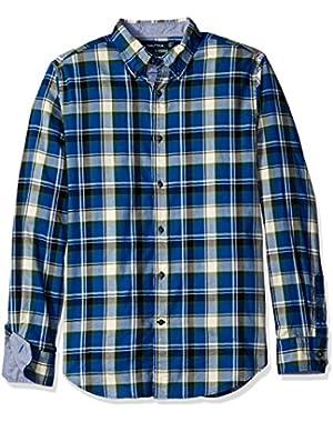 Men's Slim Fit Pacific Plaid Long Sleeve Shirt