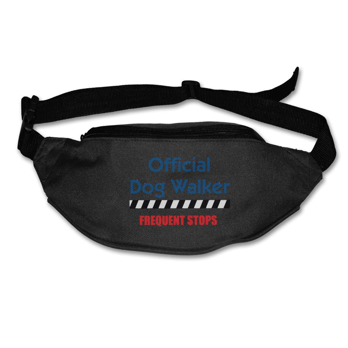 Official Dog Walker Sport Waist Packs Fanny Pack Adjustable For Travel