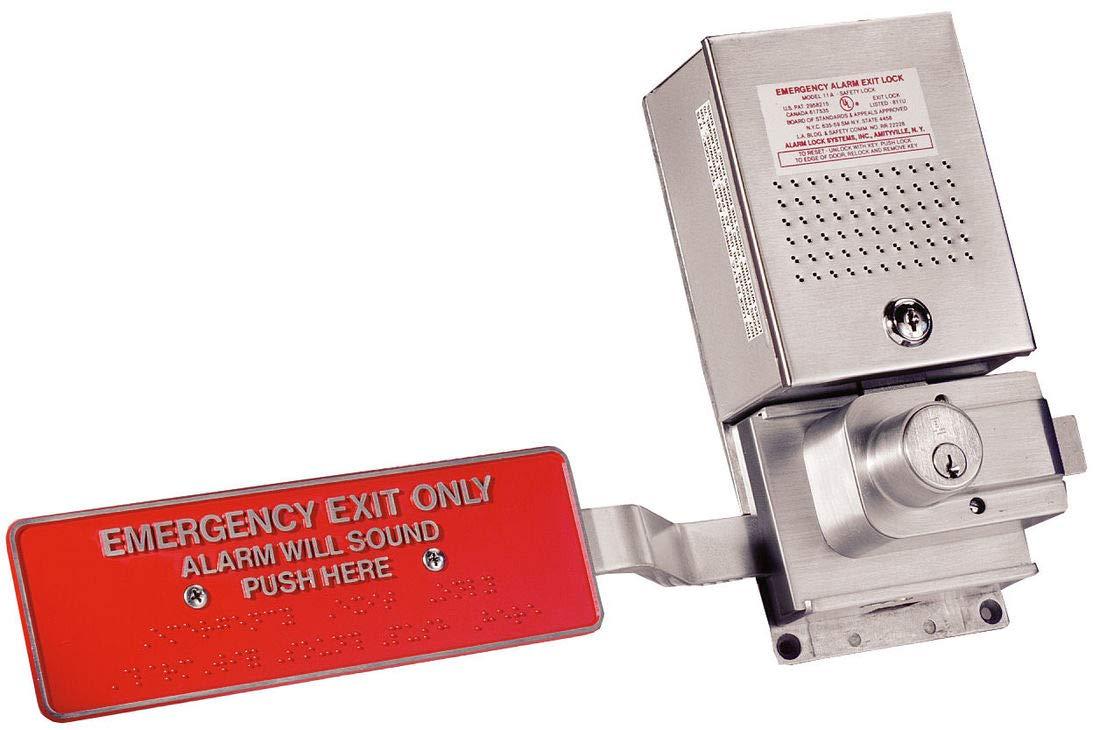 LISTED Silver Alarm Lock 11A EMERGENCY EXIT ALARM U.L Red Aluminium