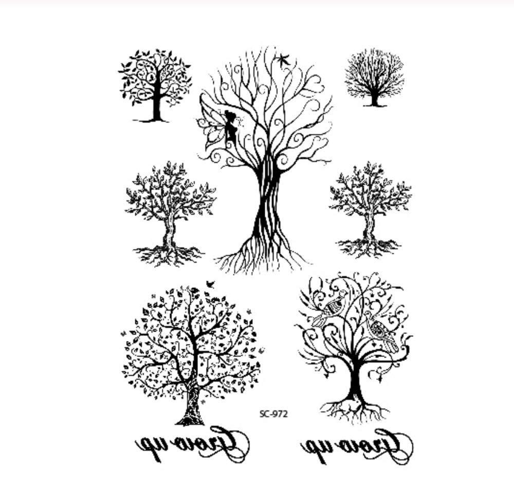 DRTHUKG Etiqueta Engomada del Tatuaje Boceto Notas De Música En ...