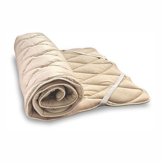 Woll de cubrecama suave bio de oveja y de algodón ecológico, algodón Berger. Colchón, colchón, Lana de oveja, 80x220 cm: Amazon.es: Hogar