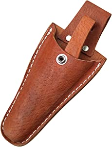 Leather Sheath Tool Holsters Gardening Pouch Belt Electrician Scissors Tool Holsters- Compact Protective Leather Case/Holder Pouch Bag for Pruning Shears Pliers Scissors or Any Garden Knife HSZ-20