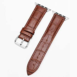 Handmade Watch Bands for iwatch 40mm 44mm Series 4 (iwatch 38mm 42mm Series 3) – Genuine Leather Wristband Strap for Apple Watchband – Women Men