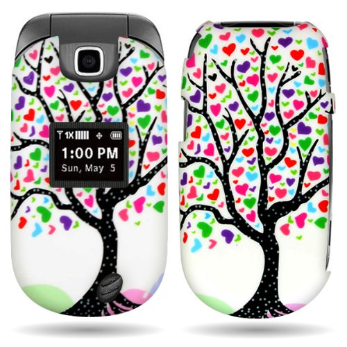 over Case with PINK BLUE LOVE TREE DESIGN for LG VN150 REVERE 2 With PRY- Triangle Case Removal Tool (Love Tool)