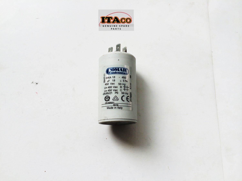 Made in ITALY Motor Electrolytic Comar CONDENSER CAPACITOR 17.1UF ~ MKA MK 18UF ~ 18.9UF 450V Vac Comar Condensatori