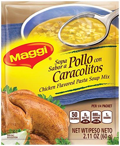 (Maggi Chicken Flavored Pasta Soup Mix, 2.11 oz, 24 Count )