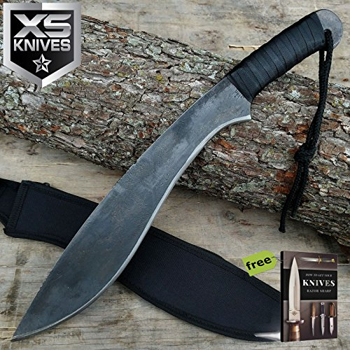 "19"" RAMBO SURVIVAL HUNTING JUNGLE MACHETE Knife Fixed Blade Carbon Steel Sharp Blade Sword w/SHEATH + Free eBook by SURVIVAL STEEL"