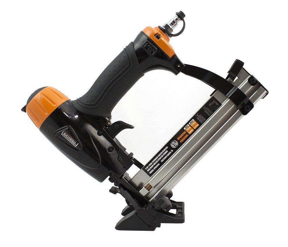 Amazon.com: Freeman PFBC940 4-in-1 18 gauge Mini Flooring Nailer/Stapler Ergonomic & Lightweight Pneumatic Flooring Nail Gun with Tool-Free Quick Release ...