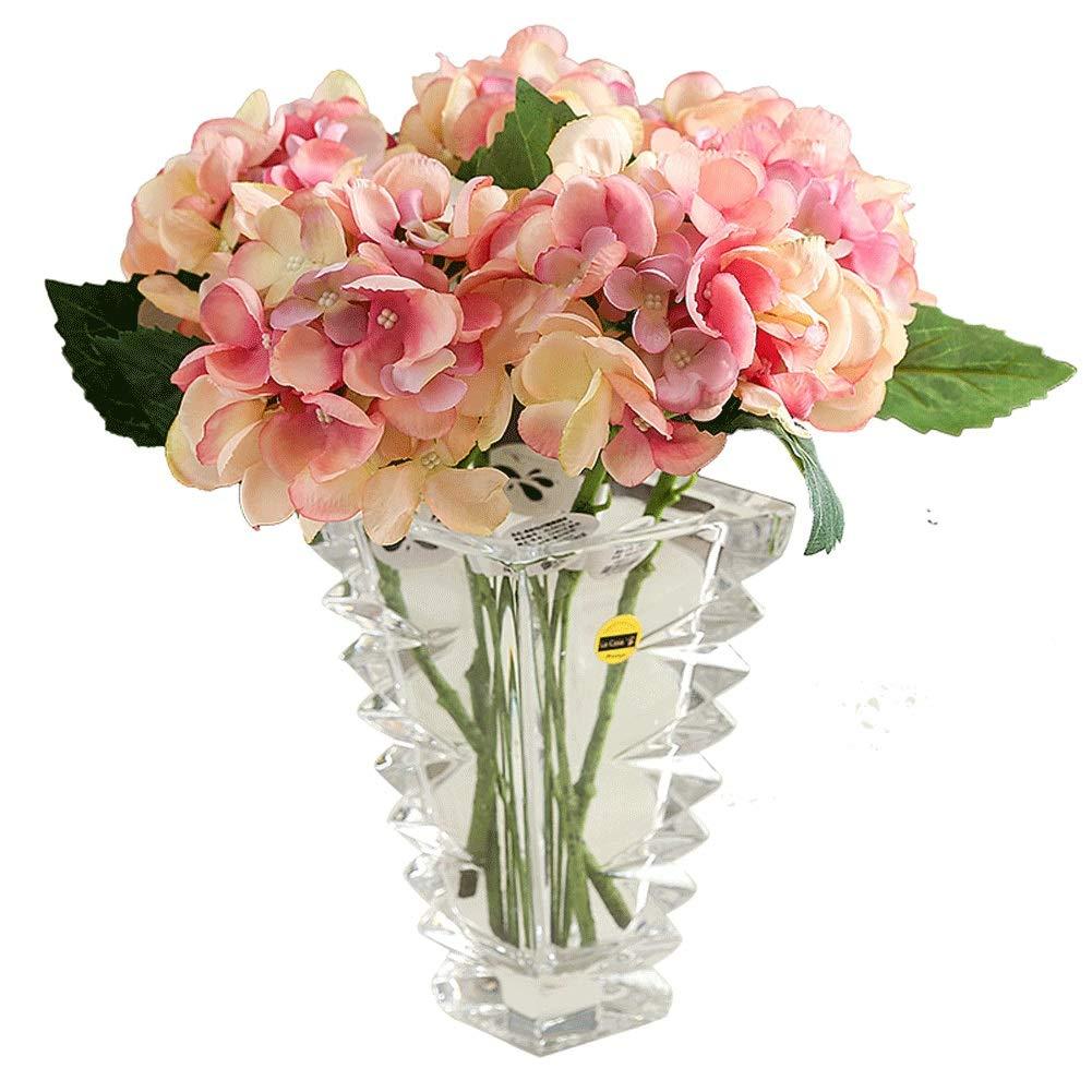シンプル花瓶用花緑植物結婚式植木鉢装飾ホームオフィスデスク花瓶花バスケットフロア花瓶 (色 : クリア) B07S219V5L クリア