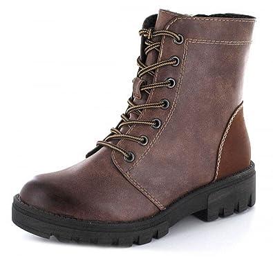 7ceb821d76680c Tamaris Damen Schnürstiefelette braun Reißverschluss  Amazon.de  Schuhe    Handtaschen