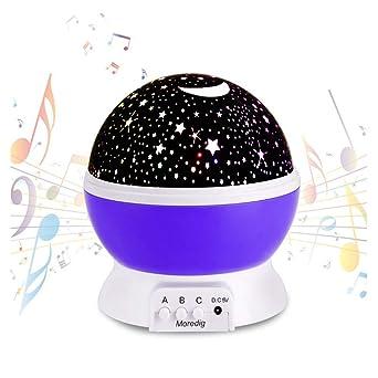 Bebé Luz nocturna musical USB recargable 4 modos Proyector ...