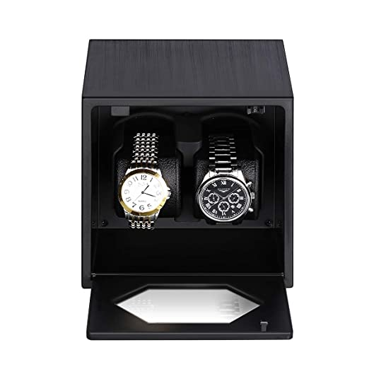 Floureon Watch Winder With Two Cushion Holders For Automatic Watches