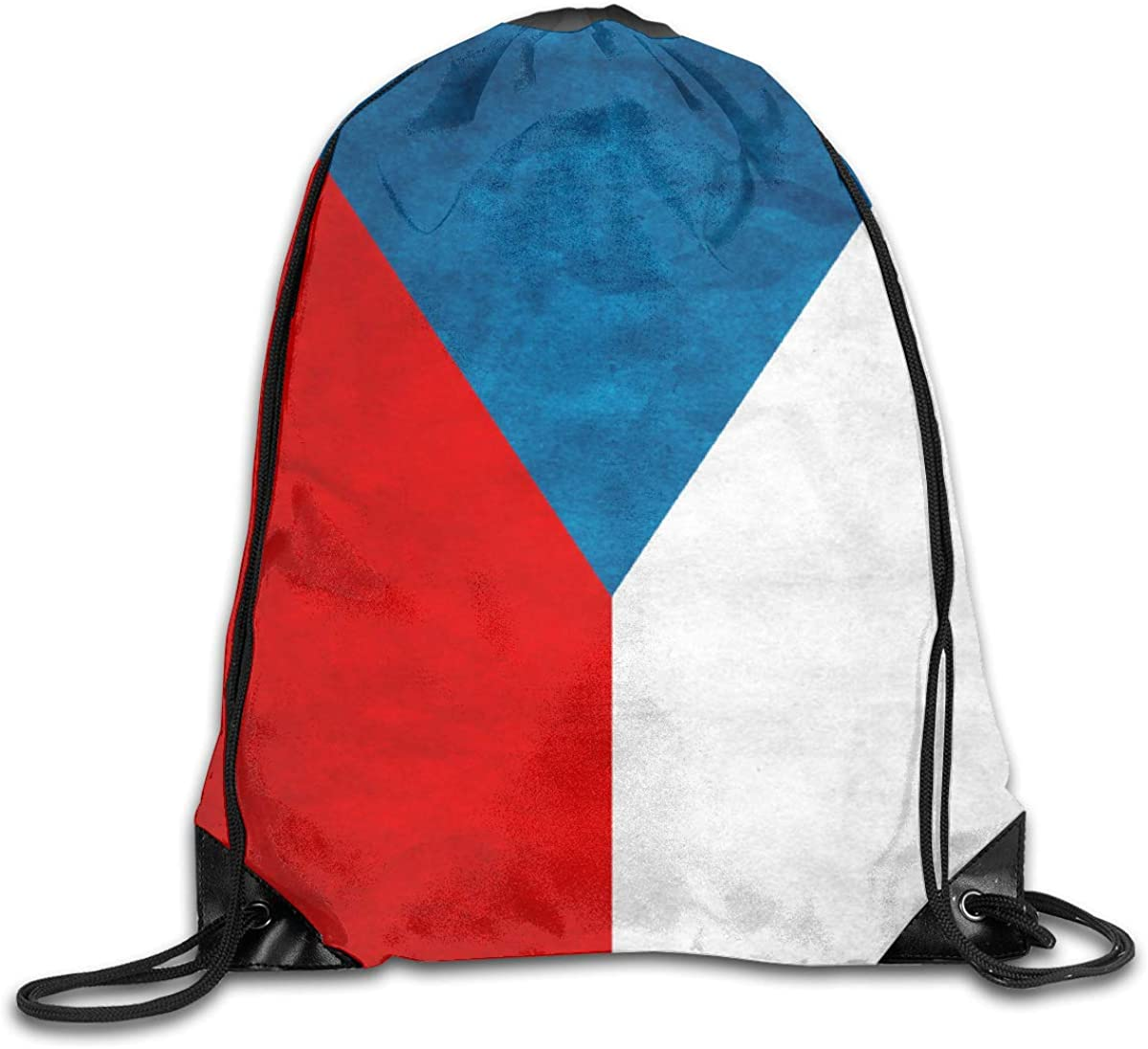 Czech Republic Flag Beam Mouth Backpack Pull Rope Shoulder Bag Outdoor Sports Leisure Bag