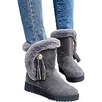 UOMOGO Stivaletti da Donna Stivali Invernali da Neve Caldi Scarpe Zeppa  Platform Warm Lined Casual Pull 0ba84344573