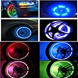 Huston Lowell Good Values Pack of 10 Awesome Super Cool Led Flash Tyre Wheel Valve Cap Light for Car Bike Bicycle Motorbicycle Wheel Light Tire Lights (RGB) (RGB)