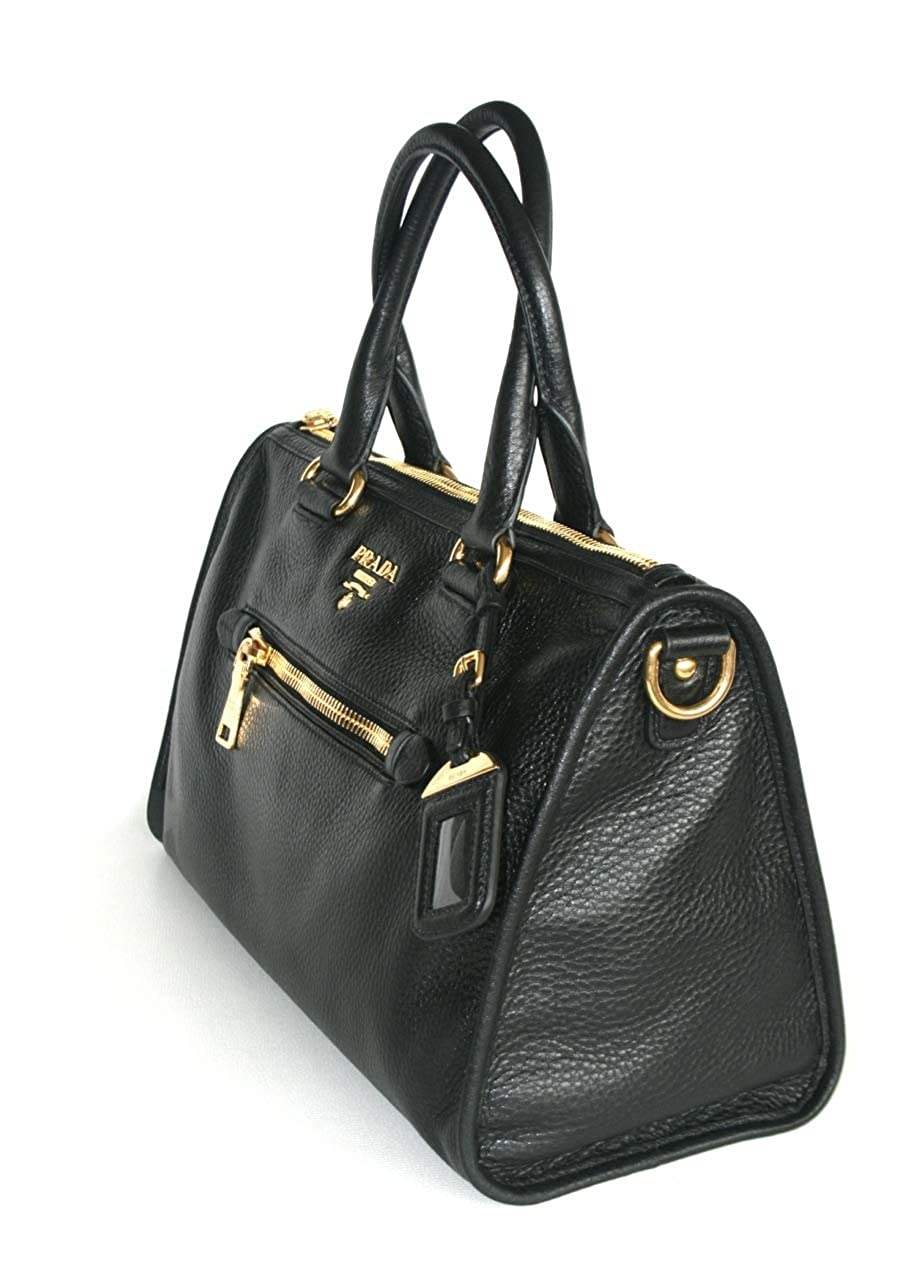 740e984056e24f Prada Women's BL0805 Black Leather Shoulder Bag: Handbags: Amazon.com