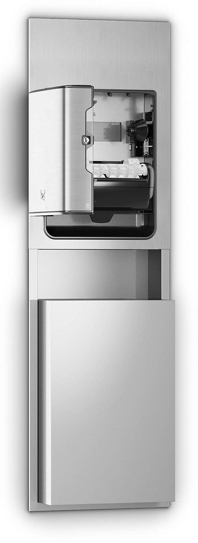 Recessed 26.97 Height x 17.64 Width x 7.87 Depth Case of 1 Dispenser Stainless Steel Tork 461022 Image Design Matic Paper Hand Towel Roll Dispenser