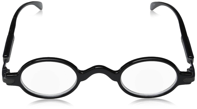 853af259530 Amazon.com  Hot Optix Unisex Retro Oval Plastic Metal Reading Glasses Black Gunmetal  Black 1.25 +1.25 power  Clothing