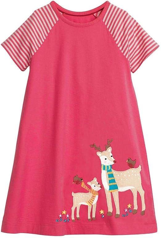 Vestido de algodón de niñas pequeñas Niños Niñas Verano Vestido de ...