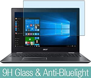 """Synvy Anti Blue Light Tempered Glass Screen Protector for Acer Spin 5 SP515-51N / SP515-51GN 15.6"""" Visible Area 9H Protective Screen Film Protectors (Not Full Coverage)"""