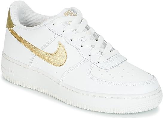 Nike Air Force 1 (GS), Zapatillas de Baloncesto para Niñas, Blanco ...
