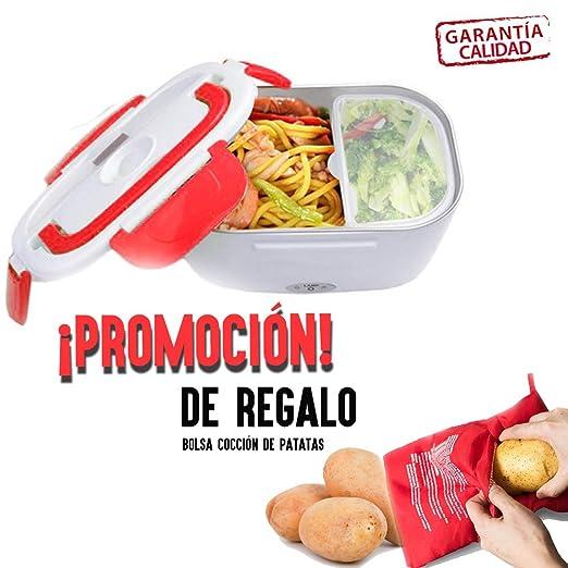 Tutiendastore Pack tartera Fiambrera eléctrica + Bolsa de ...