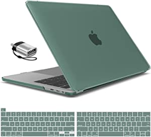 IBENZER New 2020 MacBook Pro 13 Inch Case M1 A2238 A2289 A2251 A2159 A1989 A1706 A1708, Hard Shell Case & Keyboard Cover & Type C for Apple Pro 13 Touch Bar(2020-2016), Midnight Green, MT13-MTGN+1TC