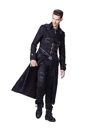 67c0a5c24f73 Punk Abdrehen Kragen Lange Mantel Jacke Gothic Windbreaker Mantel f¨¹r  Herren, 7 Gr  en  Amazon.de  Bekleidung