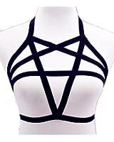 Efashionmx Womens Pentagram Harness Bra Body Cage