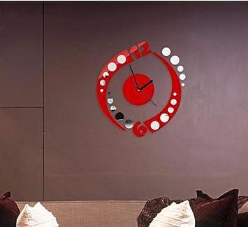 Amazoncom Mirror wall sticker clock Acrylic clock Spiral digital