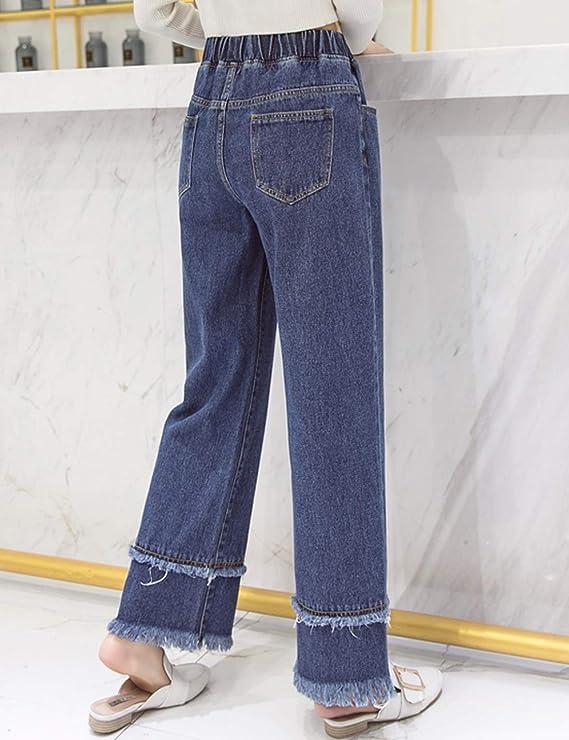 Amazon.com: D.B.M Pantalones vaqueros para mujer, cintura ...