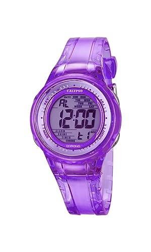 Calypso Watches Reloj Digital para Mujer de Cuarzo con Correa en Caucho K5688_3: Amazon.es: Relojes
