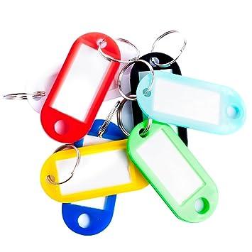 100 Schlüsselschilder mit Ring neongelb zum Beschriften,Kofferanhänger
