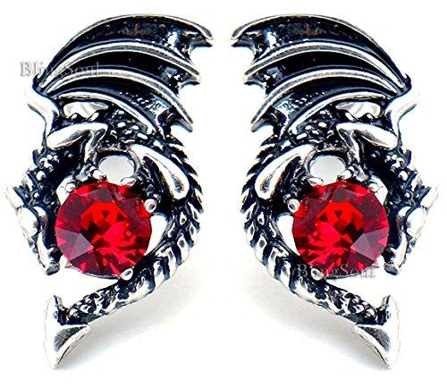 - Game Earrings - Crystal Dragon Stud Earring Merchandise Gift for Women