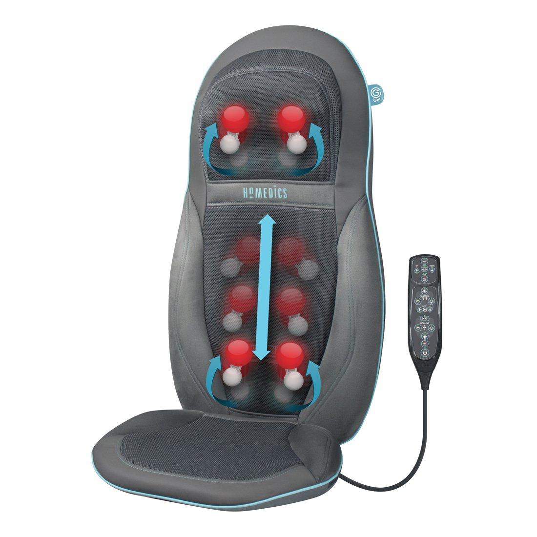 Homedics SGM1600 Exclusiva silla de masaje Technogel, motor doble para el cuello y la espalda