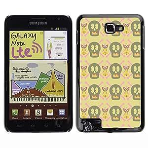 iKiki-Tech Estuche rígido para Samsung Galaxy Note i9220 N7000 - Cute Skull