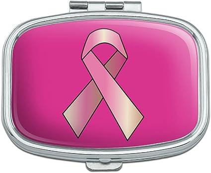 PILL BOX with pink rhinestone ribbon breast cancer  AWARENESS