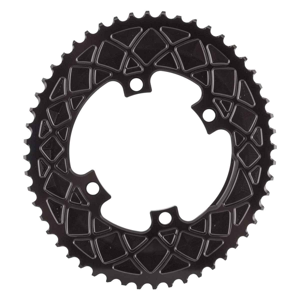 Absolute Black(アブソリュートブラック)ROV52/4BK Ovalチェーンリング ROAD 52T 110PCD 4アーム用 ブラック B01HLYOWV0