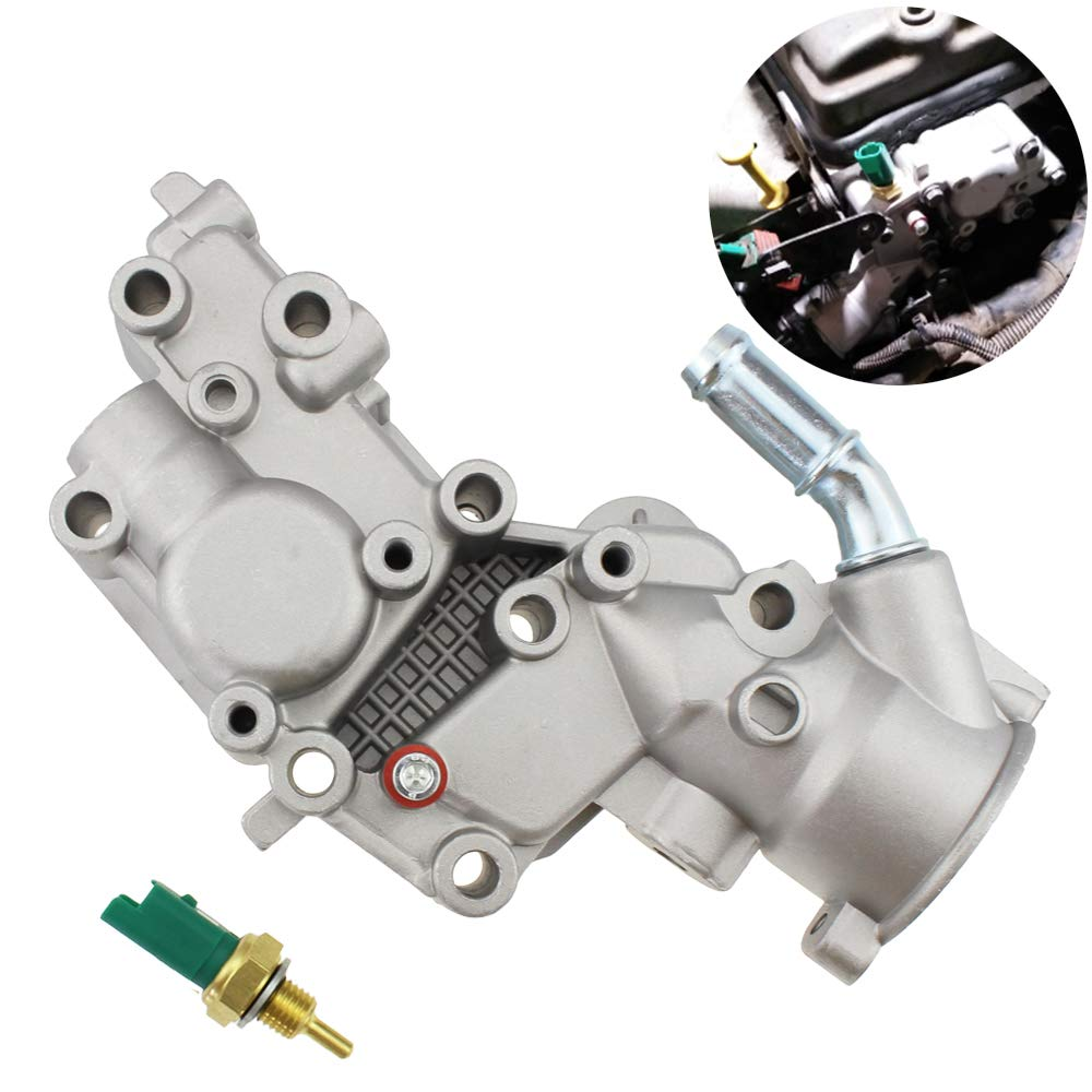Upgraded Aluminium Thermostat Housing Coolant Water Flange & Sensor for Citroen BX C15 C3 MK/for Peugeot 1007 205 206 1336.Y8 9654775080