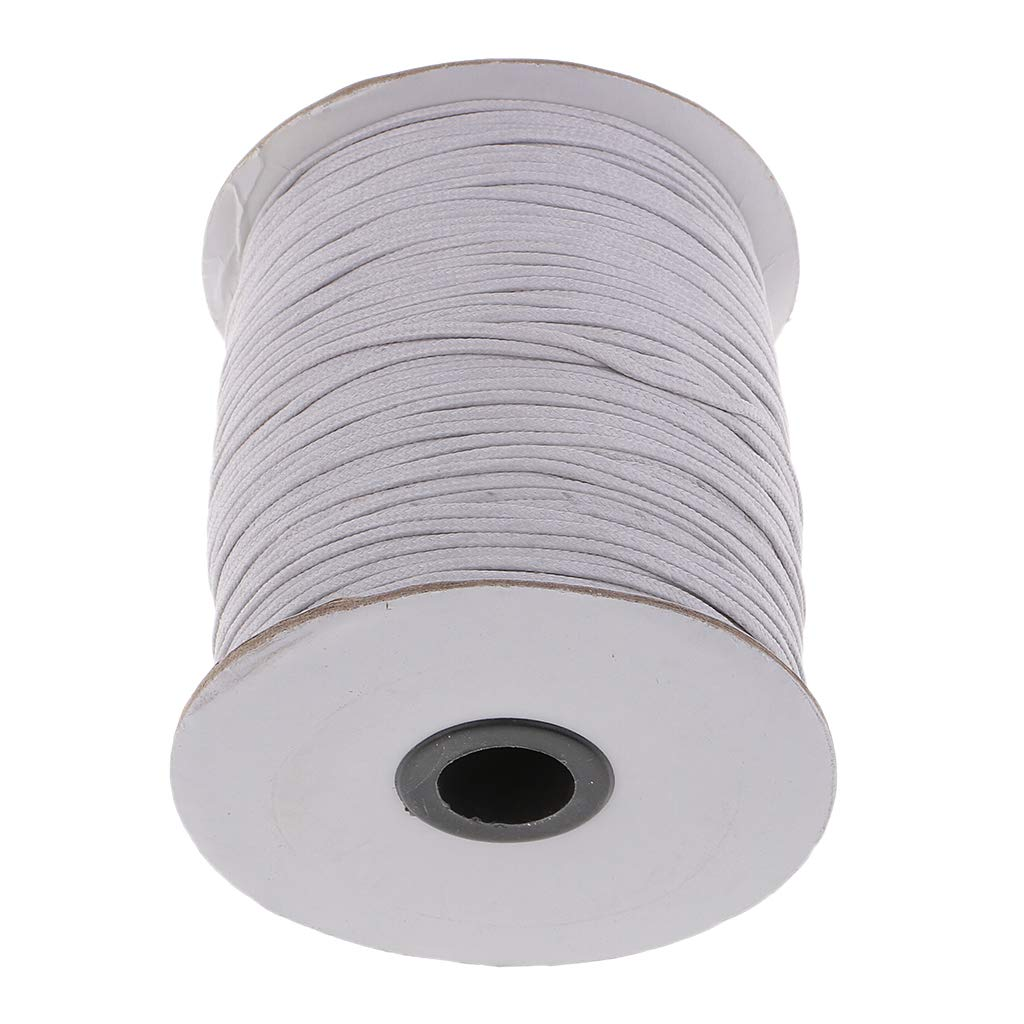 Baoblaze 170 Meters/Spool Waxed Cotton Cord 1.5mm Round Jewelry Making Thread String Beading Line - Beige