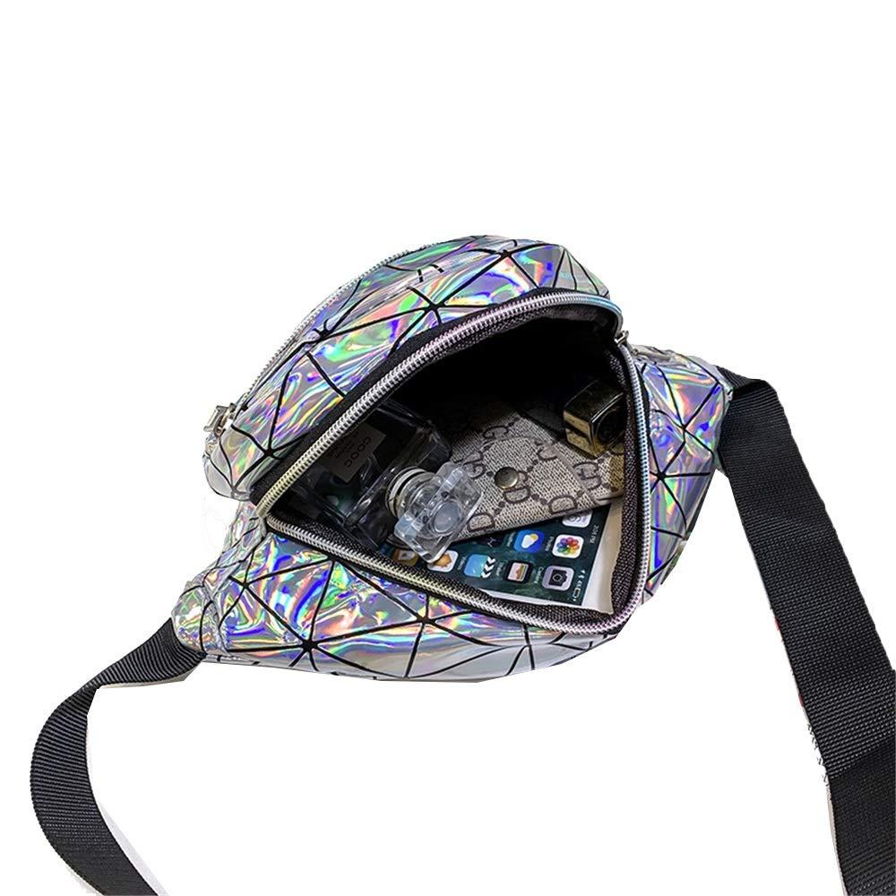 Bum Bag da donna Borsa sportiva con paillettes da donna Borsa da marsupio lucida Bumbag con brillantini Borsa da viaggio con bretelle scintillanti per corsa Adatto per viaggi corsa allaperto