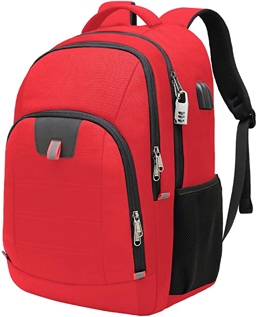 ZHONGJI School Laptop Backpack Stars Night Sky Blue Red Travel College Work Business Computer Bag Durable Lightweight Camping Outdoor