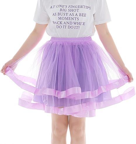Litale - Falda plisada de gasa para mujer, para adultos, corta ...