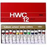 Watercolor Paint Set - Holbein W440 - 15ml Tubes Set No.5 - 12 vibrant colors - Lightweight and portable - Perfect for budding hobbyists and artists - Made in japan Holbein