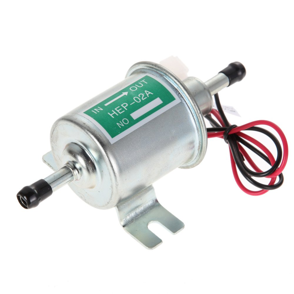 OSIAS Universal 12V Low Pressure Heavy Duty Gas Diesel Inline Electric Fuel Pump HEP-02A (4-7 PSI)