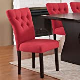 ACME Furniture 71521A Effie Side Chair (Set of 2), Red Linen