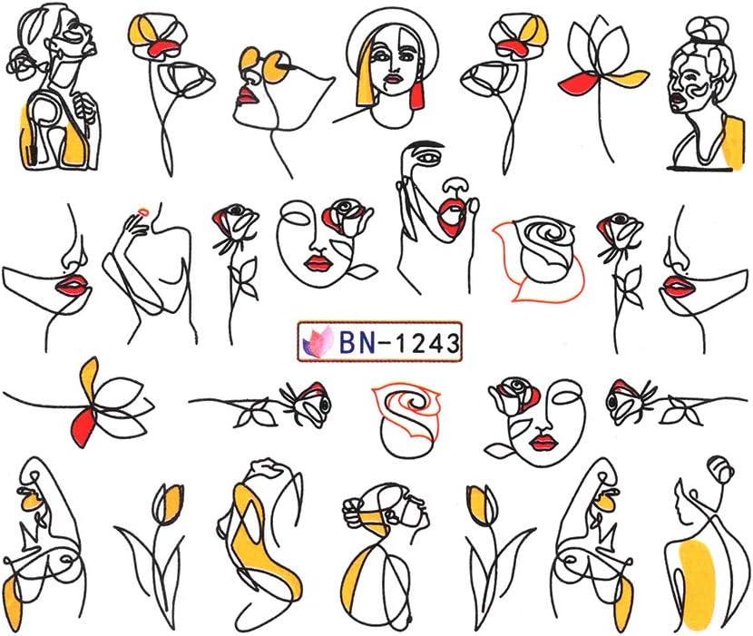 Nail 24SheetsLot Mix 24 Different POP ART Nail Art Water Sticker Decal For Gel Nail Art Decoration 24BN359
